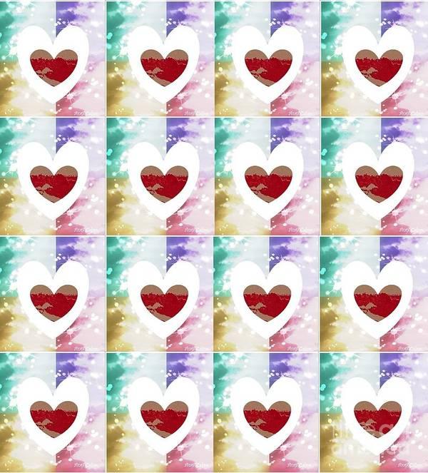 Heart Poster featuring the digital art Heartful 2 by Ann Calvo