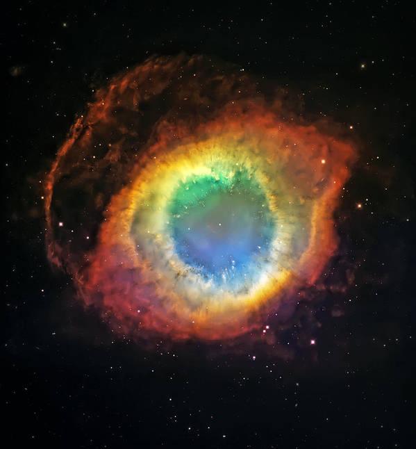 Universe Poster featuring the photograph Helix Nebula 2 by Jennifer Rondinelli Reilly - Fine Art Photography
