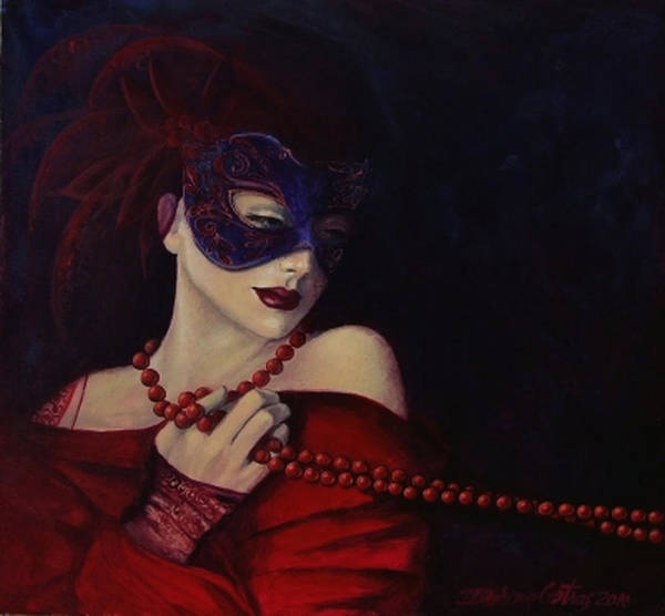 Fantasy Poster featuring the painting Idyll by Dorina Costras