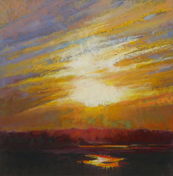 Sunset Poster featuring the painting Incandescence by Ed Chesnovitch