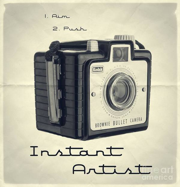 Isolated Poster featuring the photograph Instant Artist by Edward Fielding