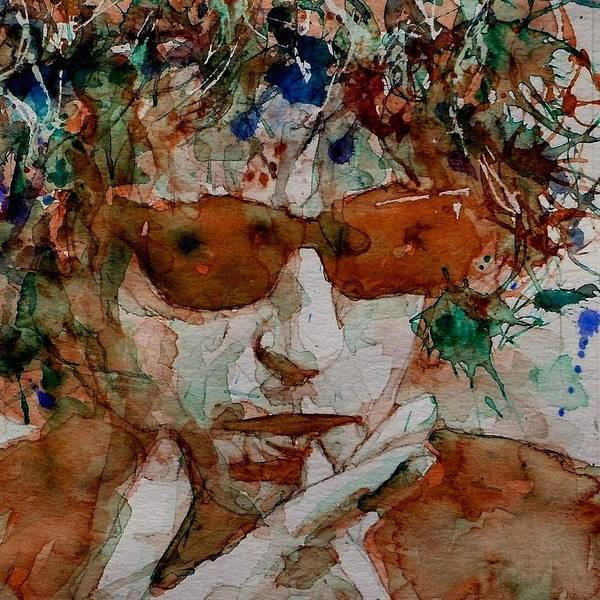 Bob Dylan Poster featuring the painting Just Like A Woman by Paul Lovering