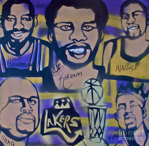 Kobe Bryant Poster featuring the painting Laker Love by Tony B Conscious