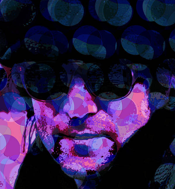Lennon Poster featuring the digital art Lennon by Scott Davis