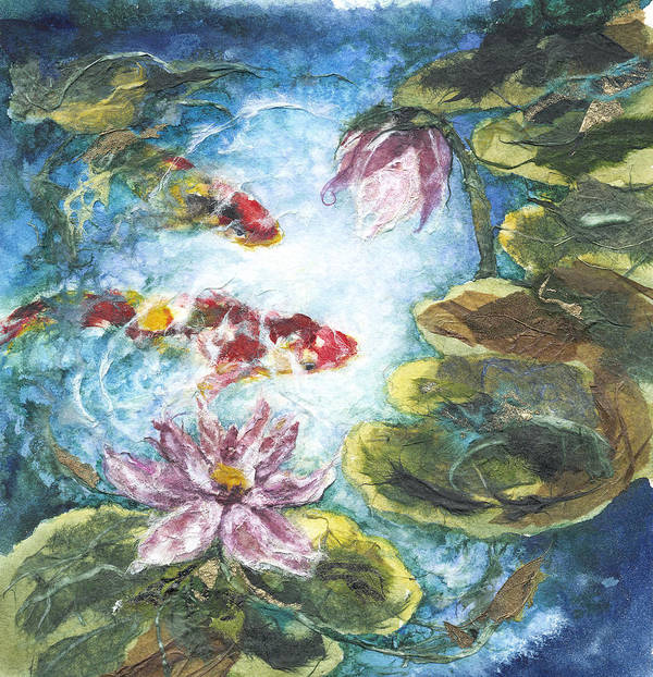 Watercolor Poster featuring the painting Lilies #3 by Connie Ely McClure