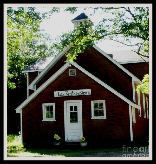 School Poster featuring the photograph Little Red Schoolhouse by Gail Matthews