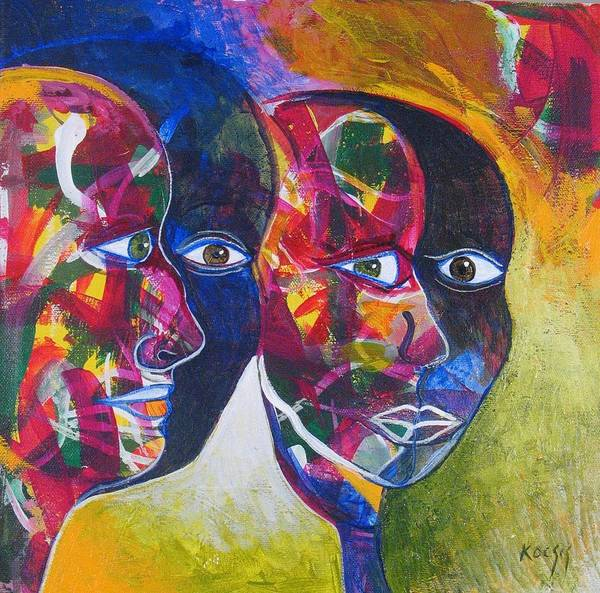 Faces Poster featuring the painting Living In The Shadows by Rollin Kocsis