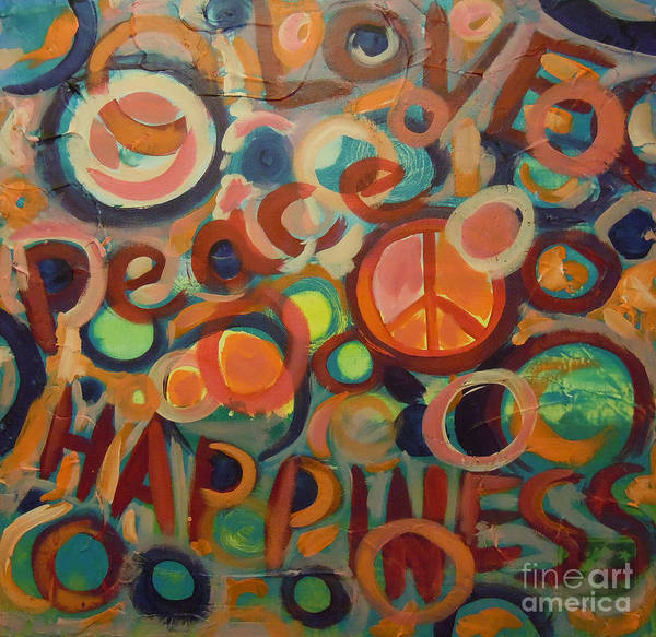 Love Peace Happiness Poster By Tonya Henderson Best Love Peace Happiness