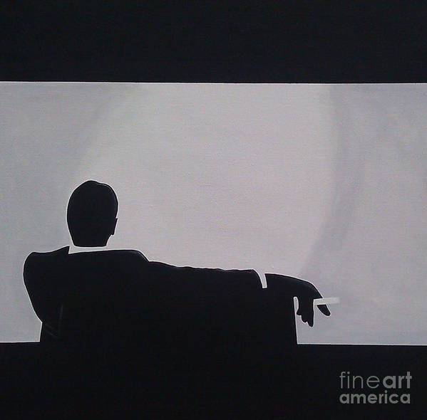 Artist Poster featuring the painting Mad Men In Silhouette by John Lyes