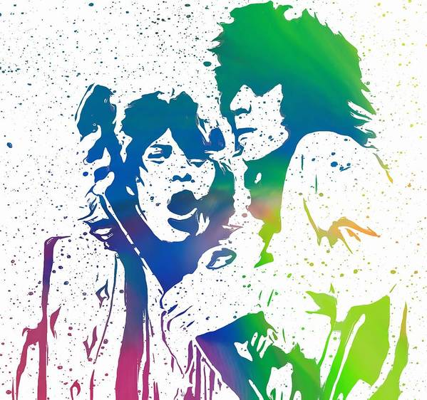 The Rolling Stones Mick And Keith Poster featuring the digital art Mick Jagger And Keith Richards by Dan Sproul