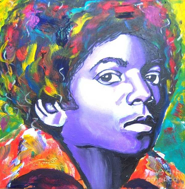 Touring Poster featuring the painting MJ by Jonathan Tyson