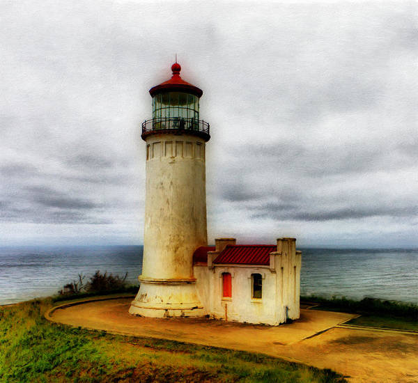 Lighthouse Poster featuring the painting North Head Light by Paddrick Mackin