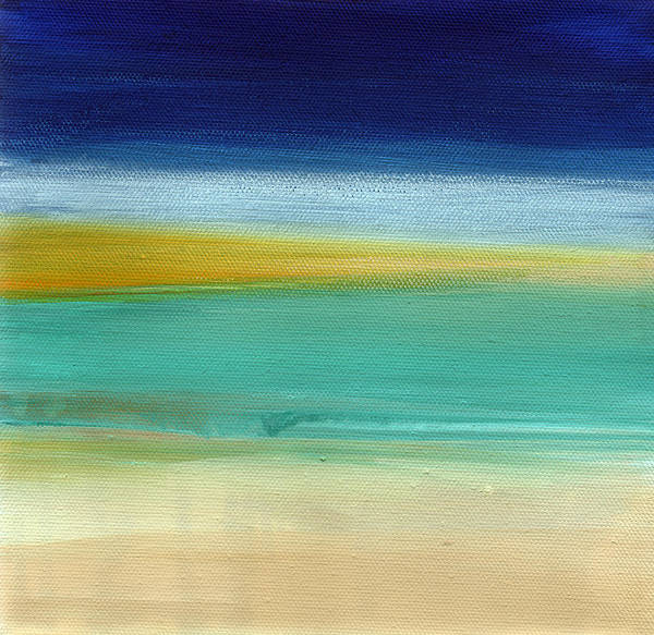 Abstract Poster featuring the painting Ocean Blue 3- Art By Linda Woods by Linda Woods