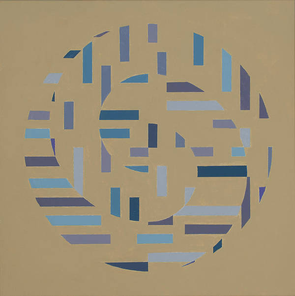 Optical Abstract Painting Poster featuring the painting Offset Movement  by Marston A Jaquis