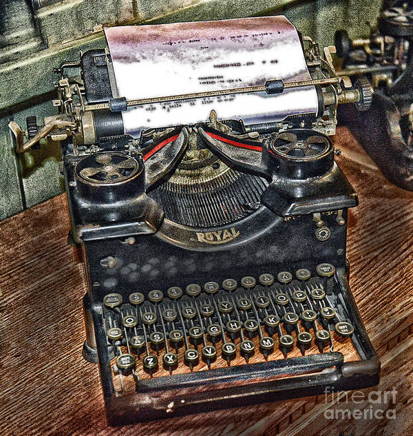 Typewriter Poster featuring the photograph Old Technology by Arnie Goldstein