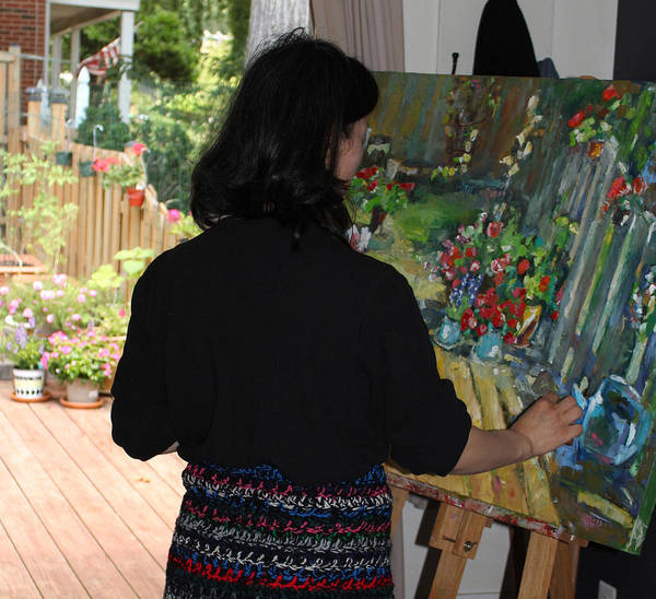 Behind The Scene Poster featuring the photograph Painting My Backyard 2 by Becky Kim
