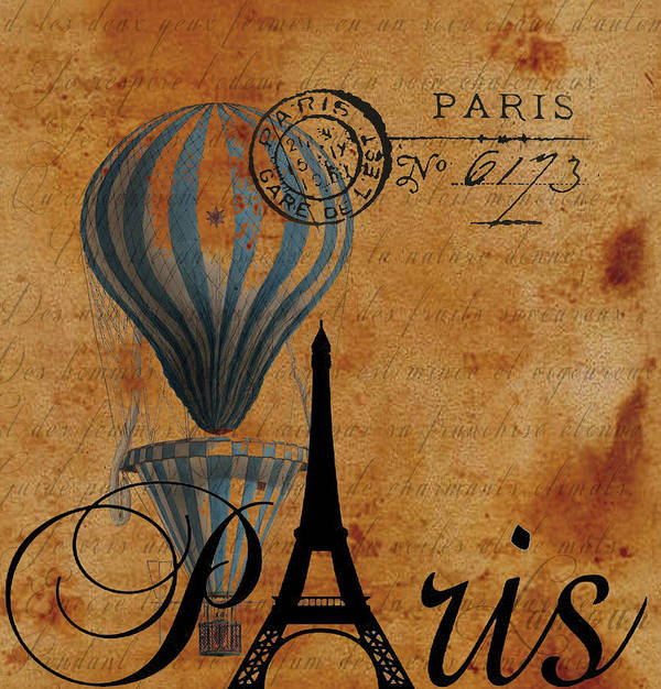 Postcard Poster featuring the photograph Paris By Postcard by Greg Sharpe