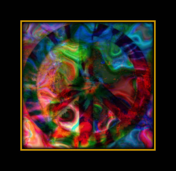 Peace Poster featuring the mixed media Peace Series Xxi by Wendie Busig-Kohn