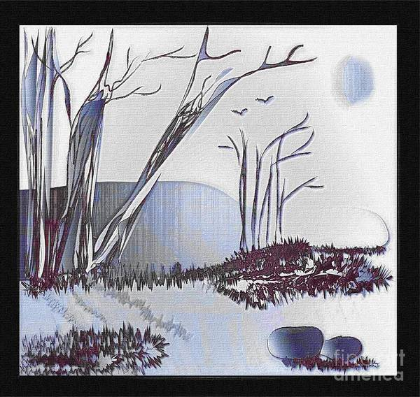 Landscape Poster featuring the painting Peacefulness by Iris Gelbart