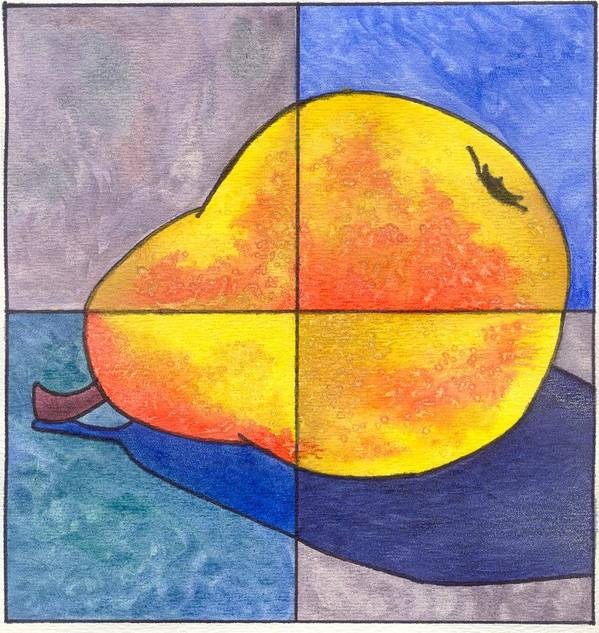 Pear Poster featuring the painting Pear I by Micah Guenther