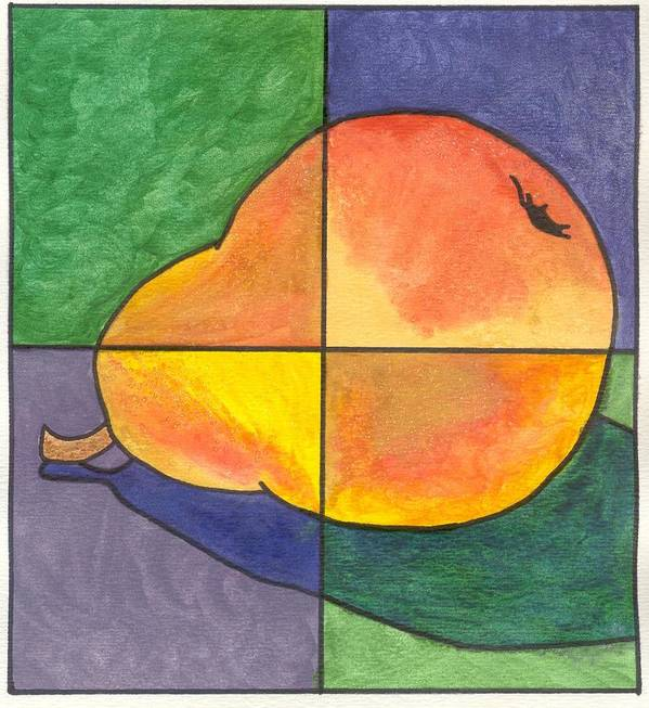 Pear Poster featuring the painting Pear II by Micah Guenther