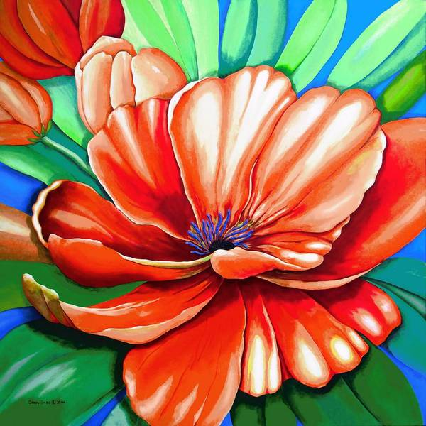 Original Painting Poster featuring the painting Pick Me Poppy by Carol Sabo