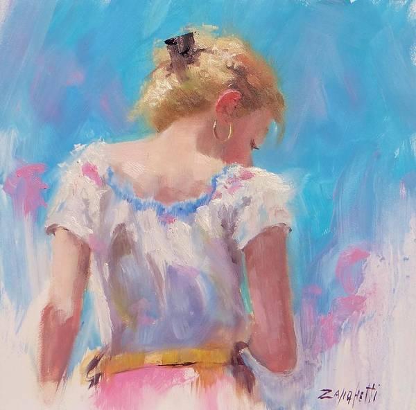 Artist Pino Poster featuring the painting Pino Study by Laura Lee Zanghetti