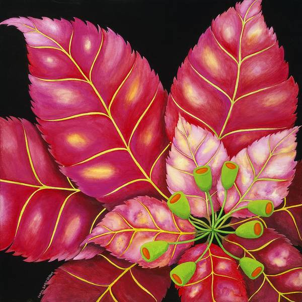 Acrylic Poster featuring the painting Poinsettia by Carol Sabo