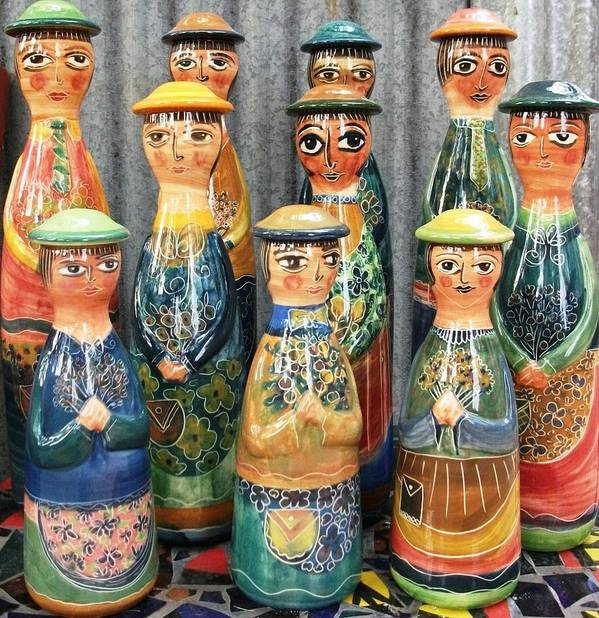 Dolls Poster featuring the ceramic art Pot People by Catherine Walker