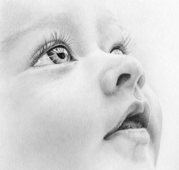 Precious Poster featuring the drawing Precious by Natasha Denger