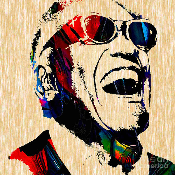 Ray Charles Poster featuring the mixed media Ray Charles Collection by Marvin Blaine