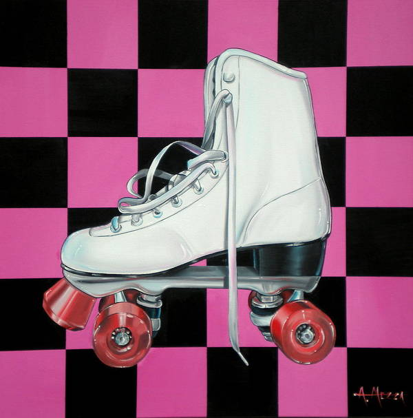 Roller Skate Poster featuring the painting Roller Skate by Anthony Mezza