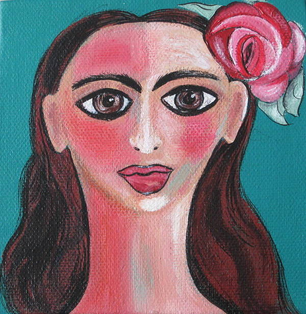 Canvas Poster featuring the painting Rosa by Sue Wright