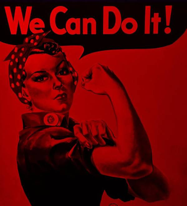 Rosie The Riveter Poster featuring the photograph Rosie In Red by Rob Hans