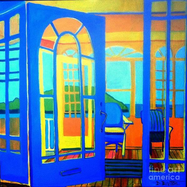 Island Poster featuring the painting Salt Island Sunporch Gloucester by Debra Bretton Robinson