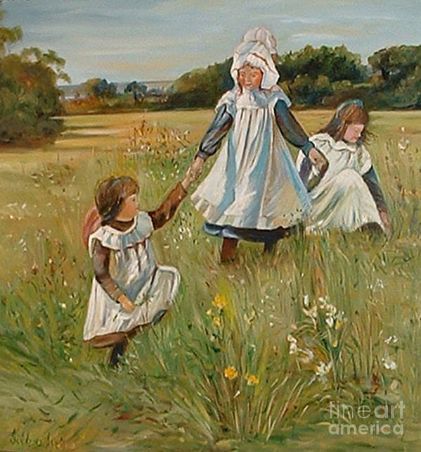 Classic Art Poster featuring the painting Sisters by Silvana Abel