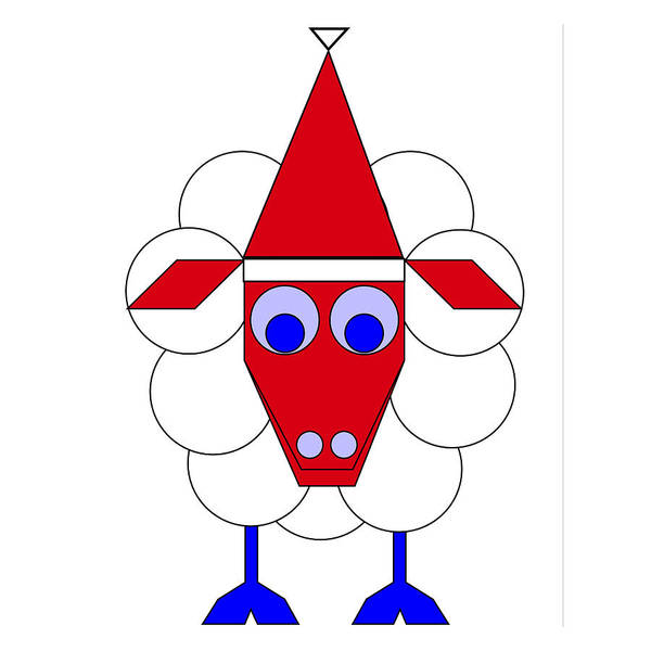 Sleep Sheep Wishes You A Merry Christmas Poster featuring the digital art Sleep Sheep wishes you a Merry Christmas by Asbjorn Lonvig