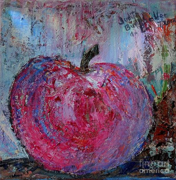 Impressionistic Poster featuring the painting Snow Apple - SOLD by Judith Espinoza