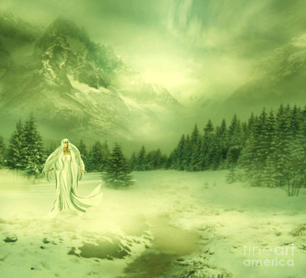 Manipulation Poster featuring the digital art Snow Queen by Ester Rogers
