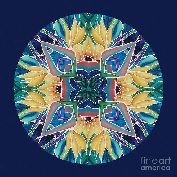 Mandala Poster featuring the painting Sunflower Mandala by Francine Dufour Jones