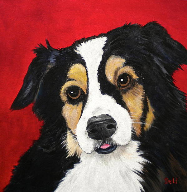 Sweet Scout Poster featuring the painting Sweet Scout by Debi Starr