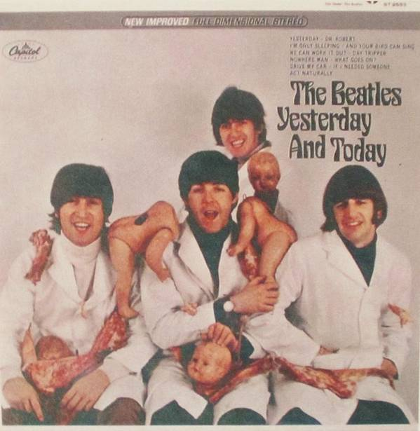 The Beatles Poster featuring the photograph The Beatles Yesterday and Today Butcher Album Cover by Donna Wilson