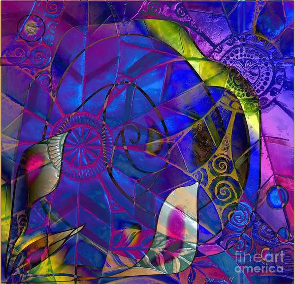 Abstract Poster featuring the photograph The Bold by Iris Gelbart