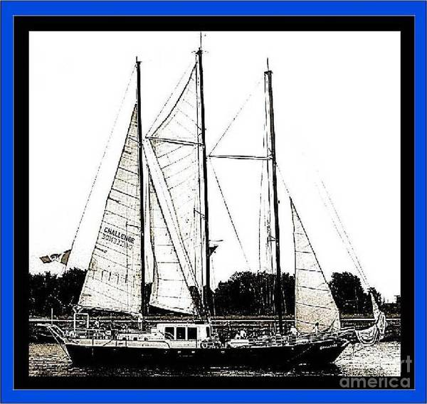 Yacht Poster featuring the photograph The Challenge 3 by Iris Gelbart