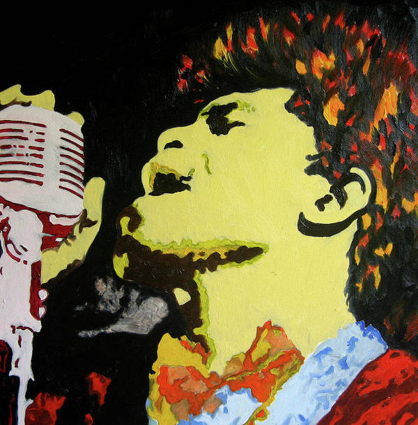James Brown Poster featuring the painting The God Father Of Soul James Brown by Ronald Young