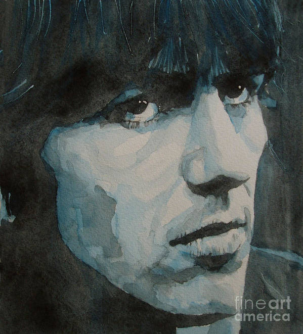The Beatles Poster featuring the painting The Quiet One by Paul Lovering