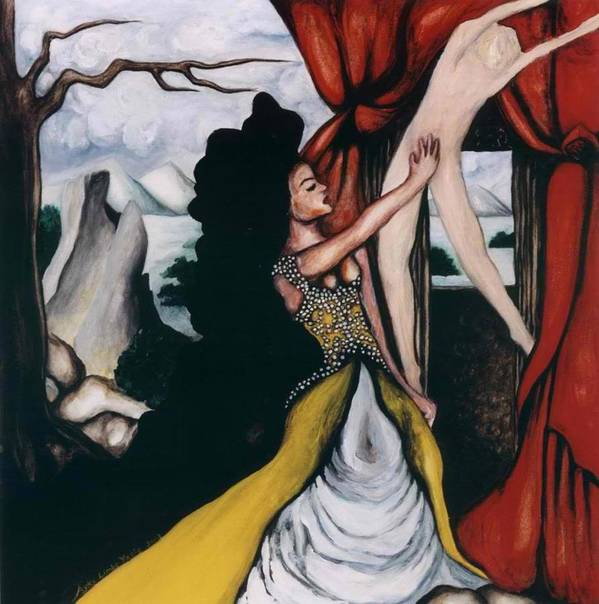 To Have And To Hold Poster featuring the painting To Have and To Hold  Mourning the Loss of a Lover by Ayka Yasis