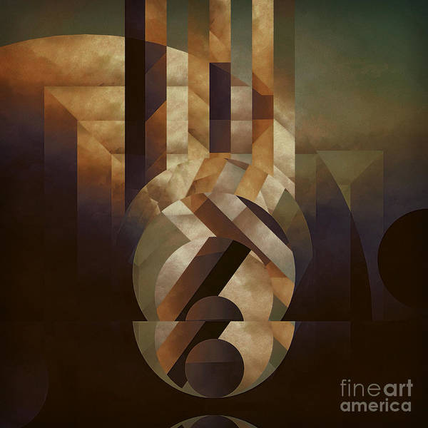 Abstract Poster featuring the painting Tremulous Sphere by Lonnie Christopher