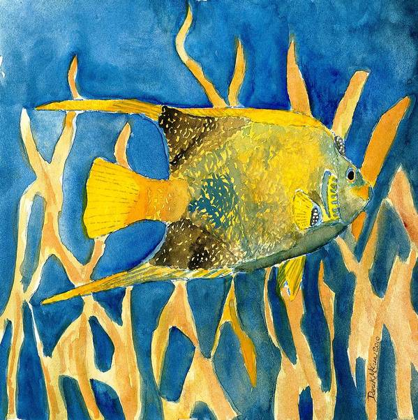 Tropical Poster featuring the painting Tropical Fish Art Print by Derek Mccrea