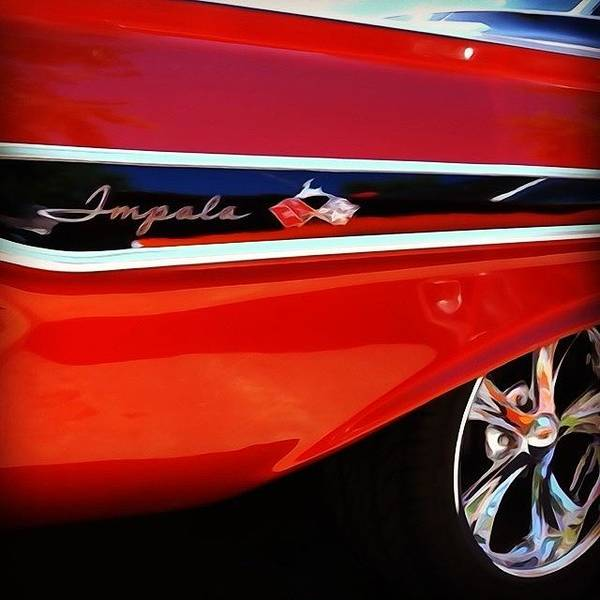 Classic Car Poster featuring the photograph Vintage Impala by Heidi Hermes